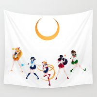 sailor moon Wall Tapestries featuring Sailor Moon! by IllustrateKate