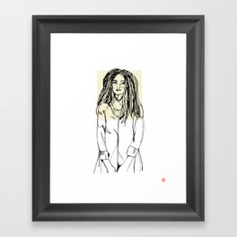 First Hello No.2 (tan) Framed Art Print