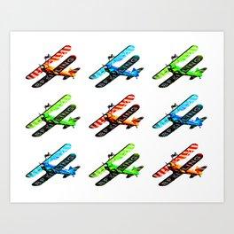Breitling Wingwalker High Contrast Sunderland Air Show 2014 Art Print