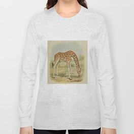 Vintage Giraffe Illustration (1903) Long Sleeve T-shirt