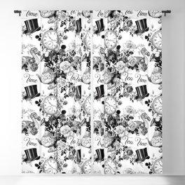 Alice in Illustration C15 Wonderland Mad Hatter Afternoon Tea Time Blackout Curtain