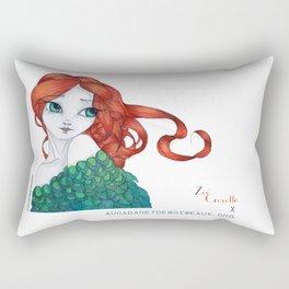 Si j'étais un oiseau by au cabaret des oiseaux-Zoé Crevette Rectangular Pillow