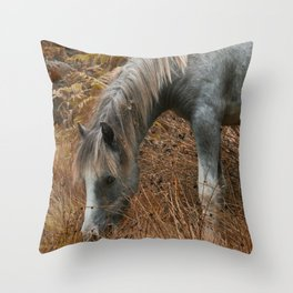 Wild Horses of The Long Mynd Throw Pillow