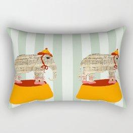 Dancing Elephant Rectangular Pillow