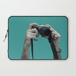camera above the crowd Laptop Sleeve