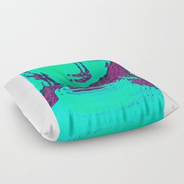 glitchy sqaure Floor Pillow