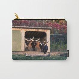 Bulls Art Print Carry-All Pouch