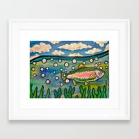 trout Framed Art Prints featuring Trout. by Pete Boardman