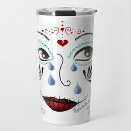 Sadness, Sugar Skull Girl Travel Mug