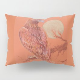 Golden Eagle Fancy Illustration of fairy tale Pastel drawing Pillow Sham