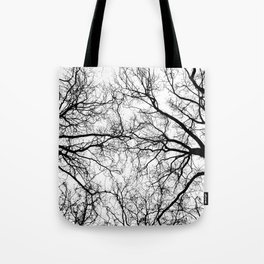 Tree Branch Silhouette Tote Bag