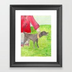 My Dog Framed Art Print