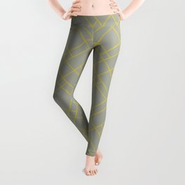 Simply Mod Diamond Mod Yellow on Retro Gray Leggings