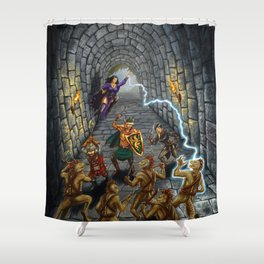 Tunnel of the Troglodytes Shower Curtain