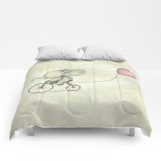 Cute Elephant riding his bike Comforters