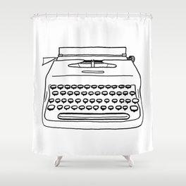 'Typewriter' Shower Curtain
