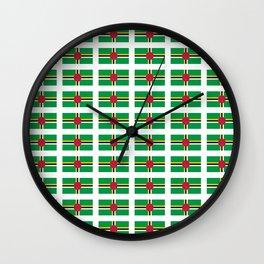 flag of dominica -dominique,dominican,dominiquais,dominiquaise,caribean,antilles Wall Clock