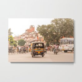 Jaipur traffic Metal Print