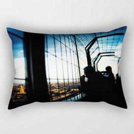 Eiffel Tower Silhouettes Rectangular Pillow