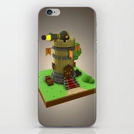 Voxel Medieval Tower iPhone Skin