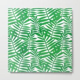 Tropical Leaf Print Metal Print