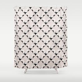 Mod Cream Shower Curtain