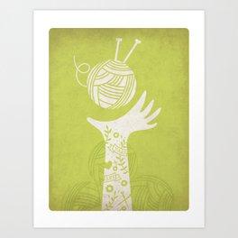 Yarn Love - Green Art Print