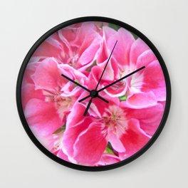 Springtime Geraniums Wall Clock