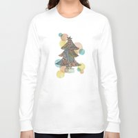 christmas tree Long Sleeve T-shirts featuring Christmas Tree by sinonelineman