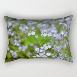 Forget-me-not Close up Rectangular Pillow