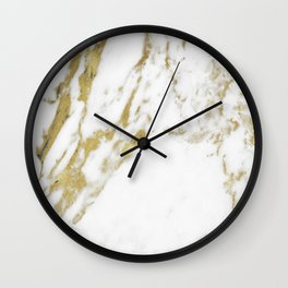 Gold vein marble Wall Clock