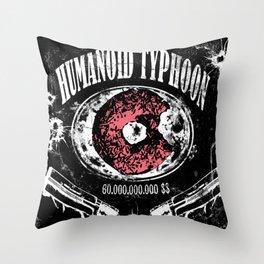 Humanoid Typhoon Throw Pillow