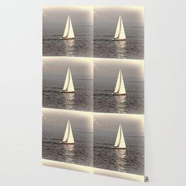 Sailing boat on the lake Wallpaper