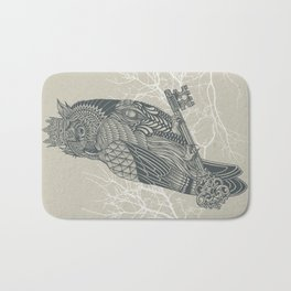 Owl King Bath Mat