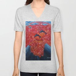 Dolphins in a vulcano Unisex V-Neck