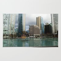 vancouver Area & Throw Rugs featuring Vancouver by Chris Root