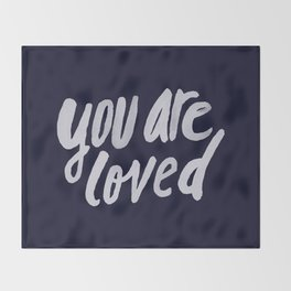 You Are Loved x Navy Throw Blanket