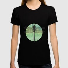 Dragonfly ~ The Summer Series Womens Fitted Tee SMALL Black