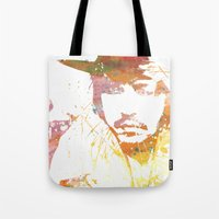 johnny depp Tote Bags featuring Johnny Depp by Nechifor Ionut