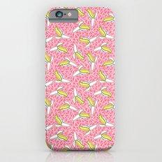 Low Down - banana memphis retro throwback vintage geometric neon pop art fruit summer spring  iPhone 6s Slim Case