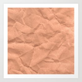 Kraft paper. crumpled paper Art Print