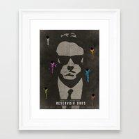 reservoir dogs Framed Art Prints featuring Reservoir Dogs by Fan Prints