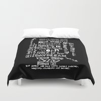 lyrics Duvet Covers featuring Lettering Lyrics by Insait