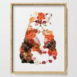 Portrait cute little kitten t-shirts Serving Tray