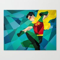 dc comics Canvas Prints featuring DC Comics Robin by Eric Dufresne