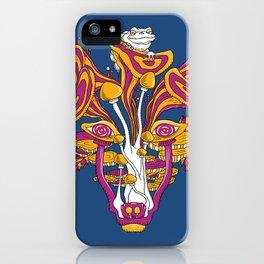 Mushroom wolf iPhone Case