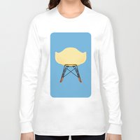 eames Long Sleeve T-shirts featuring Eames RAR by don't worry be happy