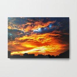 Fantastic Sunset, blue and orange sky Metal Print