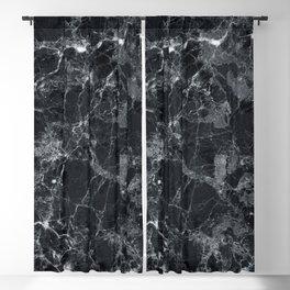 Black marble texture Blackout Curtain