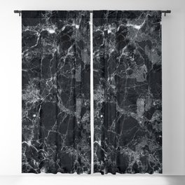 Black marble texture Blackout Curtain
